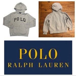 Ralph Lauren Polo heather colored full zip hoodie